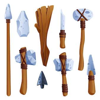Outils de l'âge de pierre préhistorique