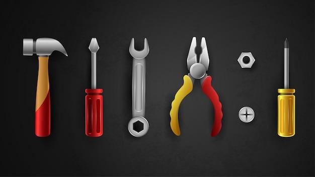 Outils de construction mis en illustration vectorielle