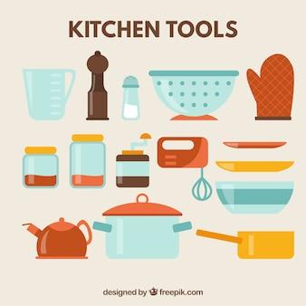 Outils de cuisine icon set