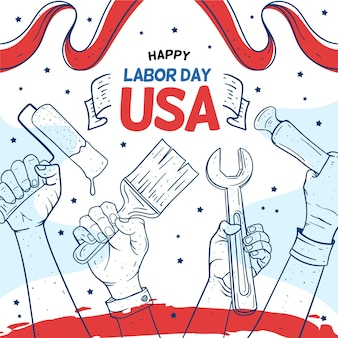 Outils happy usa labor day