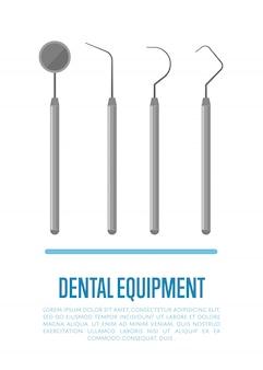Outils médicaux pour les soins dentaires