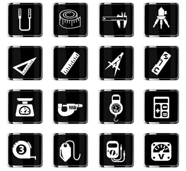 Outils de mesure des icônes web pour la conception de l'interface utilisateur