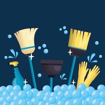 Outils de nettoyage de printemps