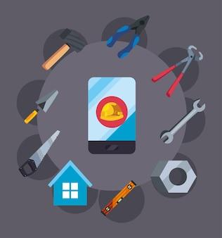 Outils pour la réparation et l'entretien de la maison