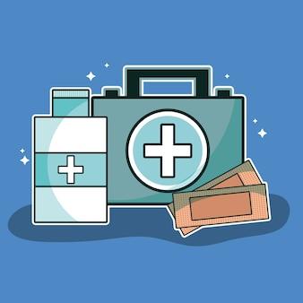 Des outils de soins médicaux pour les premiers secours