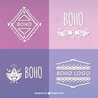 Outlined logos de style boho