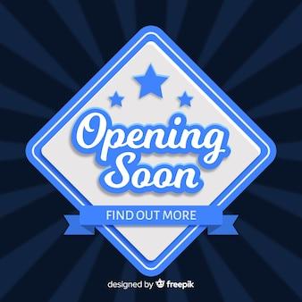 Ouverture bientôt de fond avec typographie