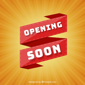Ouverture bientôt fond avec typographie