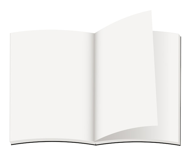 Une ouverture de carnet de notes vide