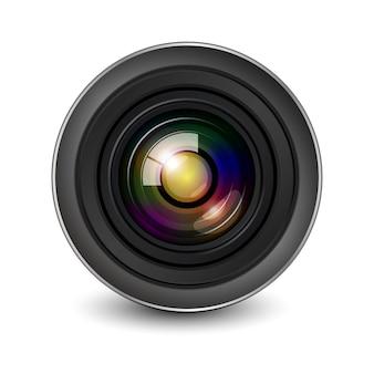 Ouverture de l'obturateur de l'objectif de l'appareil photo isolée.