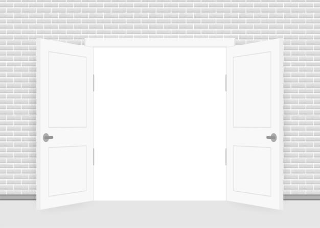 Ouverture de la porte fermée. intérieur. concept d'entreprise. vue de face. concept de bureau à domicile. la réussite des entreprises.