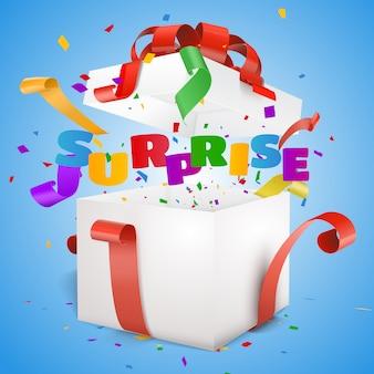Ouvrez la boîte-cadeau texte surprise.