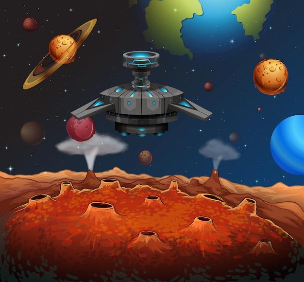 Ovni dans l'espace