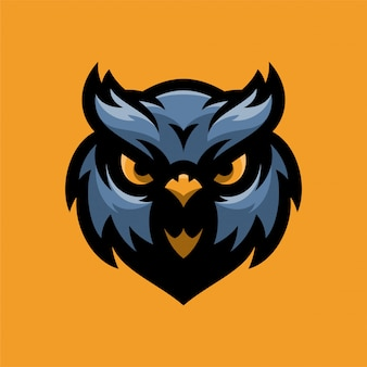 Owl bird mascot head logo