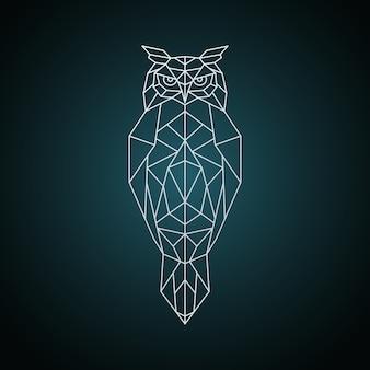 Owl dans un style géométrique.