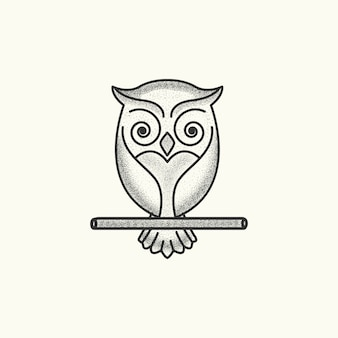 Owl logo template vecteur