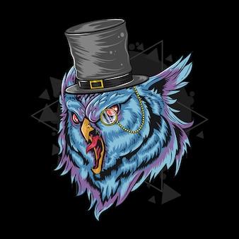 Owl wear rich hat