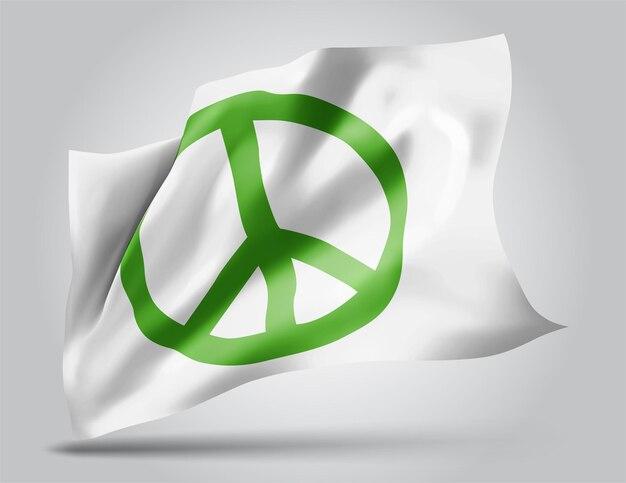 Le pacifisme, vecteur 3d flag isolé sur fond blanc