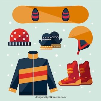 Pack d'accessoires pour snowboard design plat