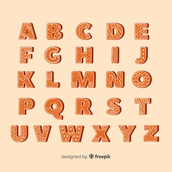 Pack d'alphabet de noël en pain d'épice
