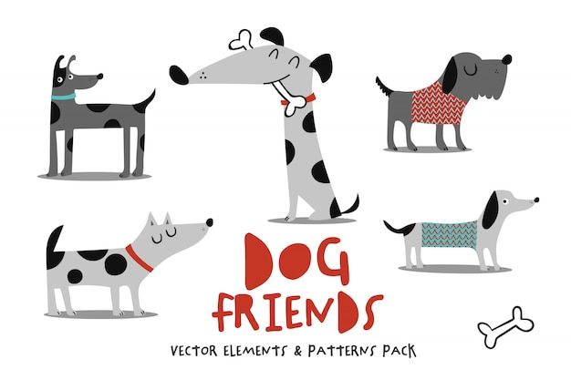 Pack d'amis chiens