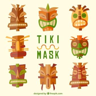 Pack amusant de masques polynésiens cool