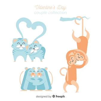 Pack animal couple valentine
