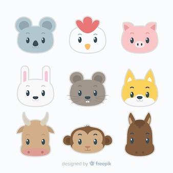 Pack animaux kawaii