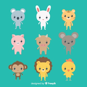 Pack animaux kawaii