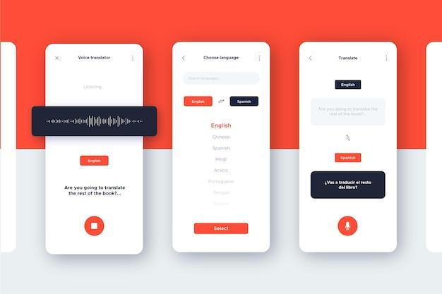 Pack d'applications de traduction vocale