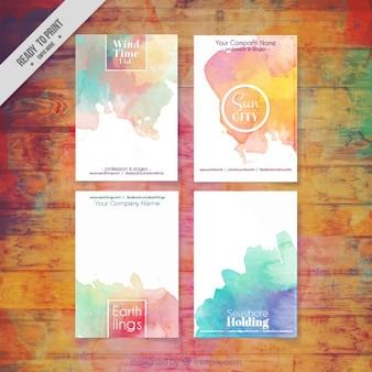 Pack aquarelle affaires flyers