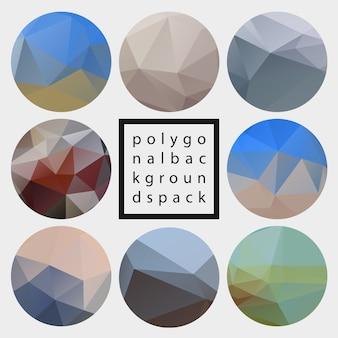 Pack d'arrière-plans texturés polygonaux à la mode abstraite