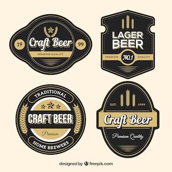 Pack d'autocollants de bière vintage