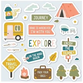 Pack autocollants de camping