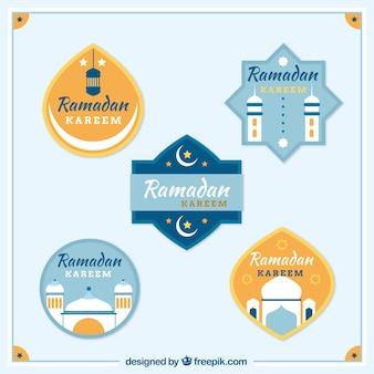Pack d'autocollants kareem ramadan en conception plate