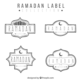 Pack d'autocollants kareem ramadan dessinés à la main