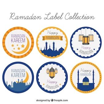 Pack d'autocollants ronds ramadan