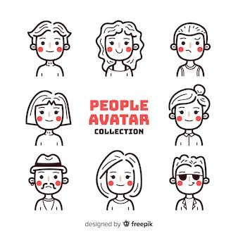 Pack d'avatar personnes sans couleur