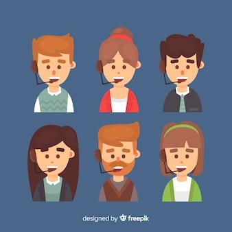 Pack d'avatars du centre d'appels