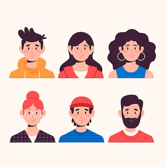 Pack d'avatars de personnes