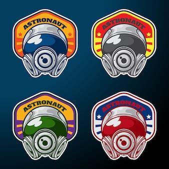 Pack de badge astronaute avec une couleur différente