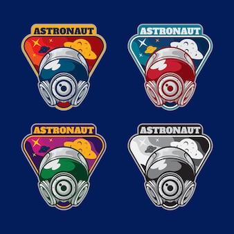 Pack de badge astronaute triangle de couleur différente