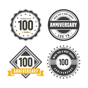 Pack de badges 100 anniversaire