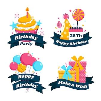 Pack de badges d'anniversaire détaillés