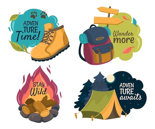 Pack de badges d'aventure détaillé
