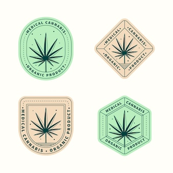 Pack de badges de cannabis médical
