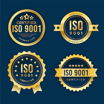 Pack de badges de certification iso