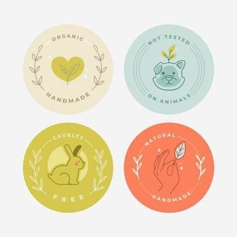Pack de badges dessinés à la main sans cruauté
