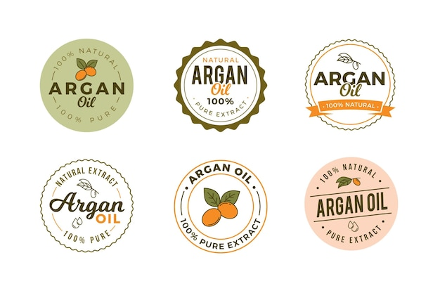 Pack de badges d'huile d'argan plat bio