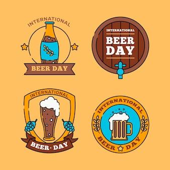 Pack de badges de la journée internationale de la bière